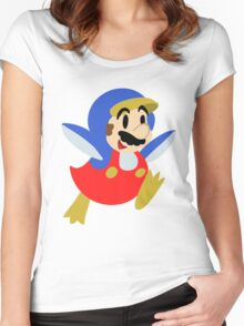 Little Penguin Mario Women's Fitted Scoop T-Shirt
