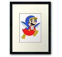 Little Penguin Mario Framed Print