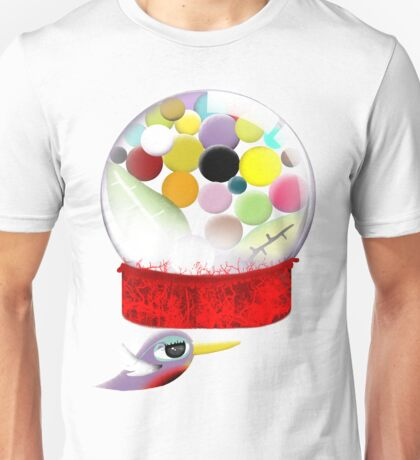 Too sweet candy bubble gum bird old style  Unisex T-Shirt