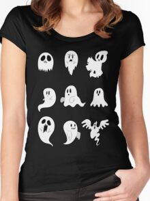 Nine Cute Little Ghosts Women's Fitted Scoop T-Shirt