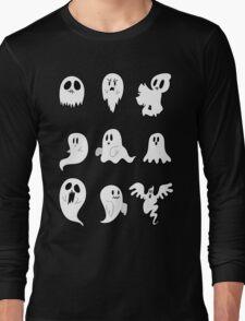 Nine Cute Little Ghosts Long Sleeve T-Shirt