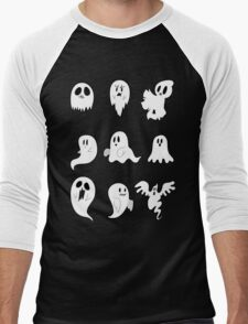 Nine Cute Little Ghosts Men's Baseball ¾ T-Shirt