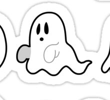 Nine Cute Little Ghosts Sticker