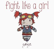 Fight Like a Girl | Robot Maker Baby Tee