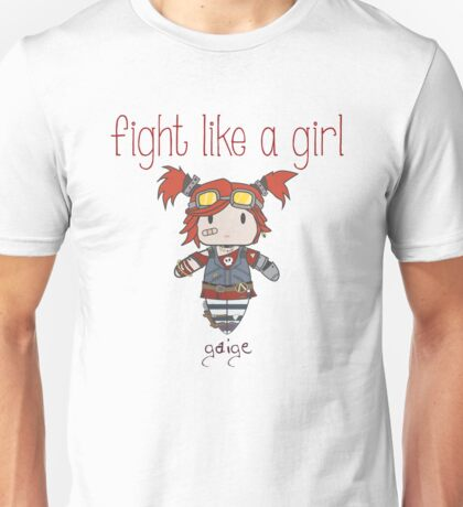 Fight Like a Girl | Robot Maker Unisex T-Shirt