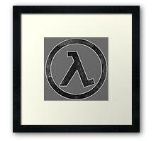 °GEEK° Half Life B&W Framed Print