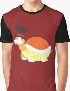 Mustache Turtle Graphic T-Shirt