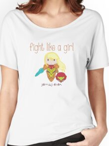 Fight Like a Girl - Intergalatic Bounty Hunter Women's Relaxed Fit T-Shirt
