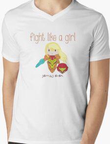 Fight Like a Girl - Intergalatic Bounty Hunter Mens V-Neck T-Shirt