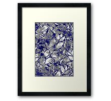 Grunge Art Silver Floral Abstract Framed Print