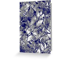 Grunge Art Silver Floral Abstract Greeting Card