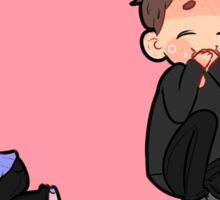 dan and phil play fighting 3 Sticker