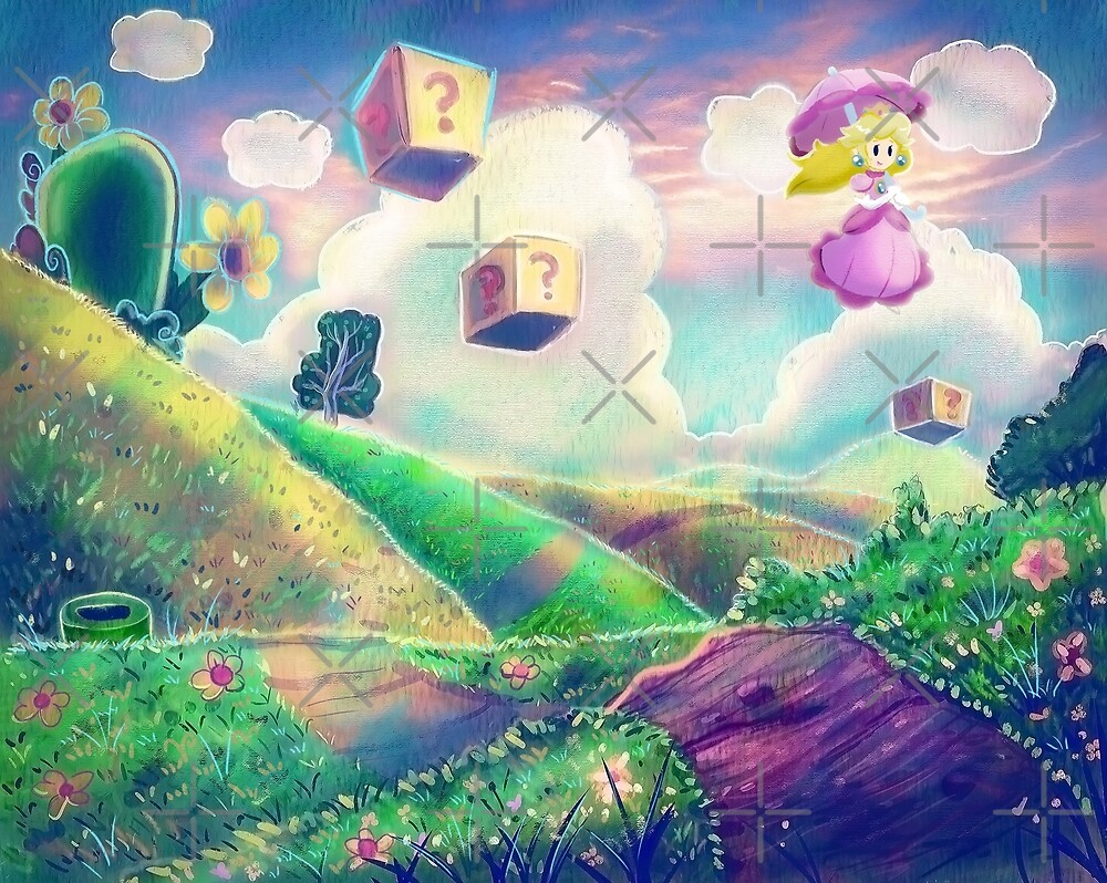 Princess Peach Landscape by SaradaBoru