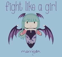 Fight Like a Girl | Demon Girl Kids Tee