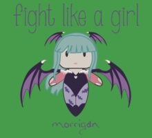 Fight Like a Girl | Demon Girl Baby Tee