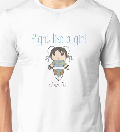 Fight Like a Girl - Interpol Agent Unisex T-Shirt