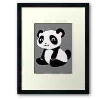 Happy Cartoon Panda Framed Print