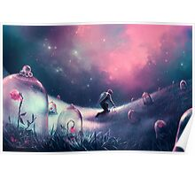 Glass Rose Fields Poster