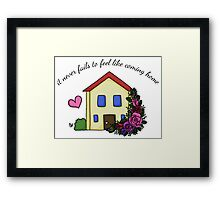 Home (With Words) Framed Print