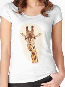 Giraffe Women's Fitted Scoop T-Shirt