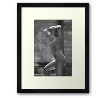 Bather Putting Up Her Hair - Statue By Aristide Maillol - Kykuit Rockefeller Estate | Sleepy Hollow, New York  Framed Print