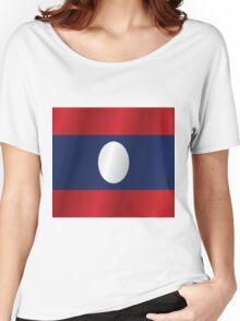 Laos flag Women's Relaxed Fit T-Shirt
