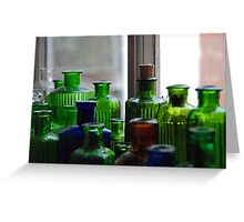 Ten Green Bottles...and some others Greeting Card