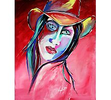 Billie Lou - Cowgirl Art by Valentina Miletic Photographic Print