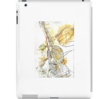 Musical Curves and Guitar  iPad Case/Skin