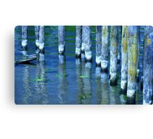 Old Jetty in Potsdam... Canvas Print