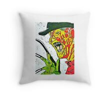 Pandora Fox Art Watercolor Freddy Krueger  Throw Pillow