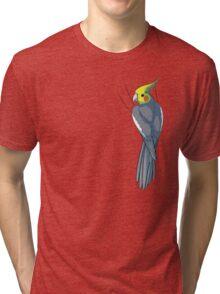 Normal Gray Cockatiel Tri-blend T-Shirt