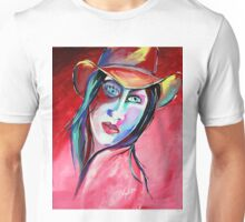 Billie Lou - Cowgirl Art by Valentina Miletic Unisex T-Shirt