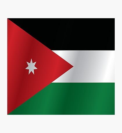 Jordan flag Photographic Print