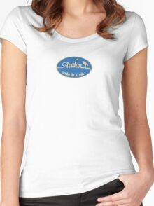 Avalon - New Jersey. Women's Fitted Scoop T-Shirt