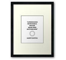 Einstein Quote Framed Print