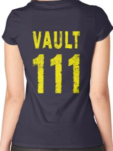 Vault 111 Women's Fitted Scoop T-Shirt