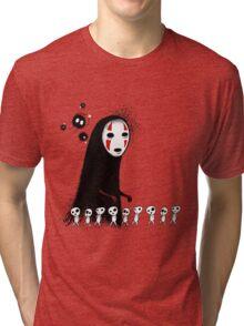 Studio Ghibli - The Spirits & Soot Sprites - Kodama - No Face - Susuwatari  Tri-blend T-Shirt