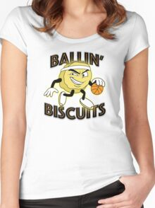 Ballin' Biscuits Women's Fitted Scoop T-Shirt