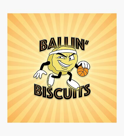 Ballin' Biscuits Photographic Print