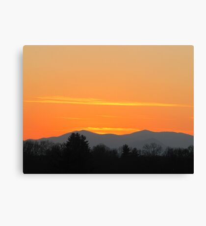 Orange Sunset in The Smokies Canvas Print