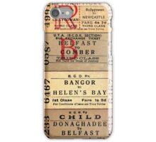 1950S-60S BELFAST & COUNTY DOWN RAILWAY TICKET CUSHION 2 iPhone Case/Skin