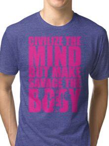 Make Savage The Body (Strong Girl Squat) Tri-blend T-Shirt