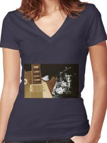We will rock you Women's Fitted V-Neck T-Shirt