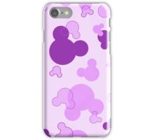Hidden Mickey - Grape iPhone Case/Skin