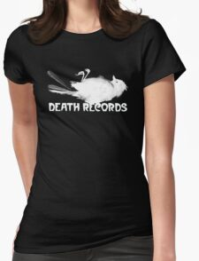 Death Records Label Womens Fitted T-Shirt