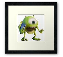 Blurry Mike Wazowski  Framed Print
