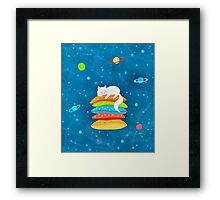 Sleeping Cat - Universe Framed Print