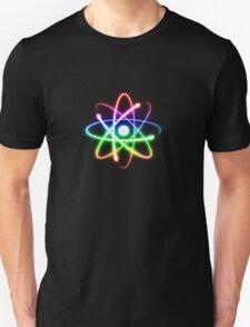 Colorful Glowing Atomic Symbol  Unisex T-Shirt