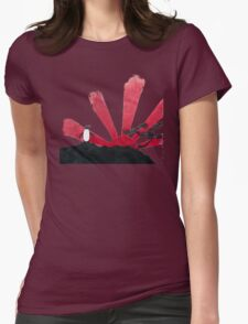 Samurai Penguin Womens Fitted T-Shirt